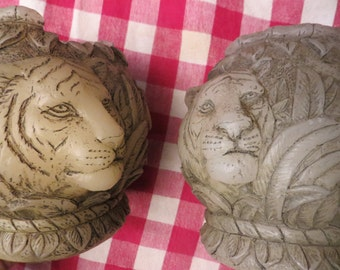 Lion Candles Pair King of the Jungle  w/ free ship