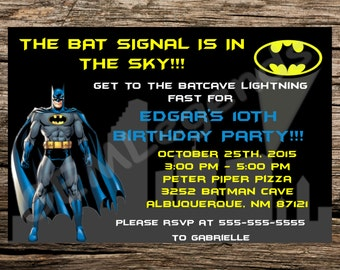 Batman Birthday Party, Batman Birthday, Batman Party, Batman Birthday Invitation, Batman Party Invitation, Batman Invite, DIGITAL DOWNLOAD