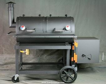 Offset Smoker - Heavy Duty Offset Smoker - Texas BBQ Smoker - Barbecue Smoker - Horizontal Smoker - Grill - BBQ Pit - Smoker Pit - Texas Pit