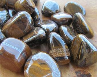 Tiger Iron Medium Tumbled Stone