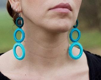 Handmade crochet earrings - very LIGHT!