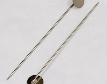 70mm Silver Stick Pin w/ 10mm Pad #MFD013