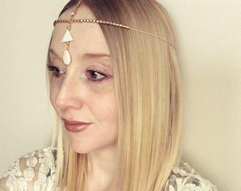 Wedding hair chain,boho hair jewelry,head chain,Boho hair piece,ethnic jewelry,tassel jewelry,wedding accessory,bridesmaid hair jewelry