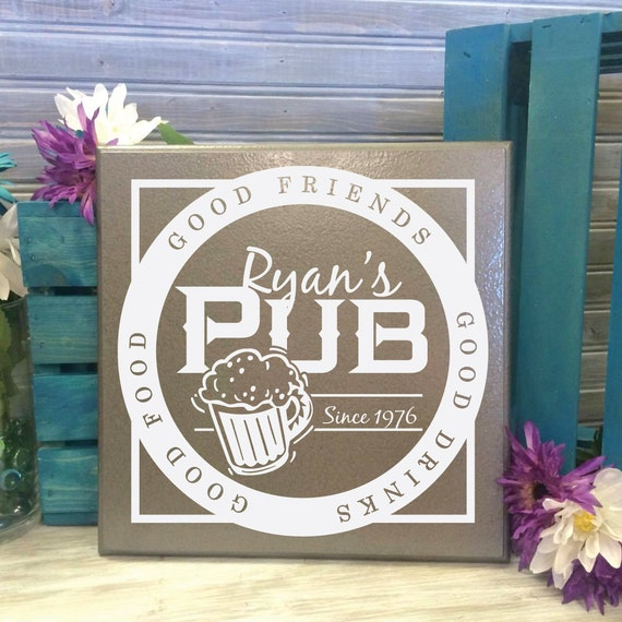 Cheap Personalized Man Cave Signs : Bar pub sign personalized custom man cave