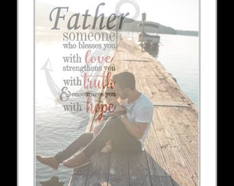 Fathers day gifts for dad, personalized dad gift, photo, dad quotes, father, birthday gifts for dad, father's day gift for dad from daughter