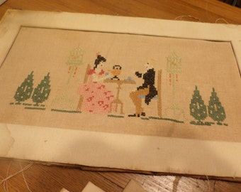 Needlework-Antique Cross Stitch-Vintage Collectible
