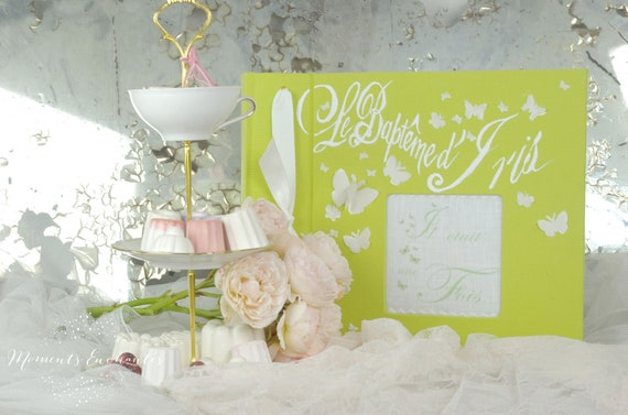 Wedding Album photo mariage  souvenirs pink  butterfly ornements wedding baby shower guestbook scrapbooking hand painting