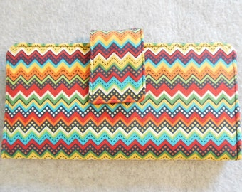 Fabric Wallet - Rainbow Chevron