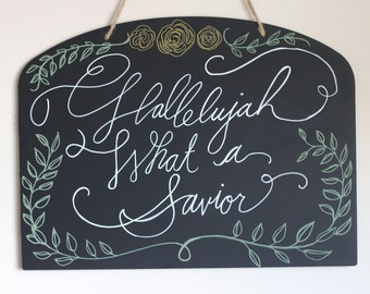 Hallelujah, What a Savior Wall Art