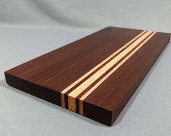 Cutting Board: Walnut, Hackberry, Maple, & Bloodwood