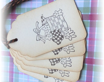 Gingerbread in a basket - Gingerbread tags (6)