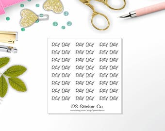 Planner Stickers - Pay Day Stickers - Header Stickers - Happy Planner Sticker - Erin Condren Sticker - Travelers Notebook