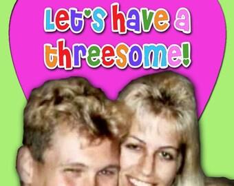 Ken and Barbie Killers Threesome Card Valentine Love Anniversary