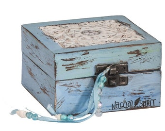 Boho Jewellery Box by Nagual-Spirit, hand painted