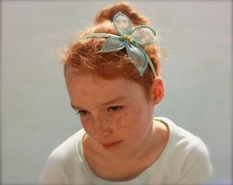 Butterfly garden headband, girls butterfly hairpiece, girls butterfly hair, butterfly headpiece, butterfly bridesmaid headband