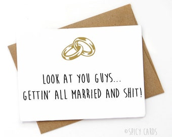 Funny Wedding card, Funny Engagement card , Sarcastic Card