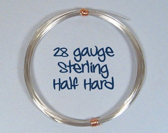 Sterling Silver Wire - 28ga HH - Choose Your Length