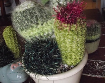 PATTERN- Heart shaped Crocheted Cactus Garden with 3 different patterns  PATTERN ONLY