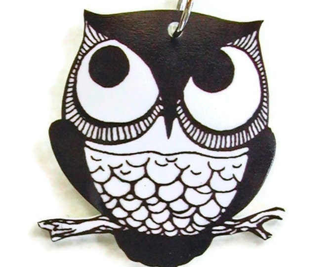RETRO OWL Small Pendant Necklace Gifts for her
