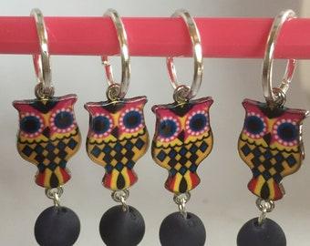 4 markers mesh knit crochet OWL