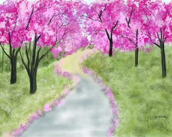 Pink Blossoms Path