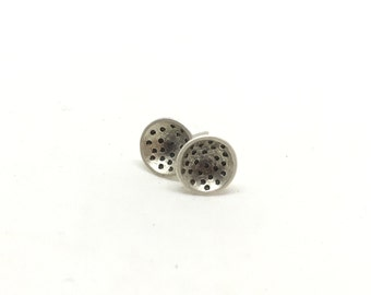 Stud earrings silver studs sterling silver studs art studs stud earrings simple silver stud earrings hammered studs