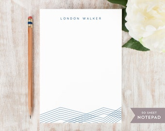 Personalized Notepad - LINES - Stationery / Stationary Notepad - elegant professional classic modern notes