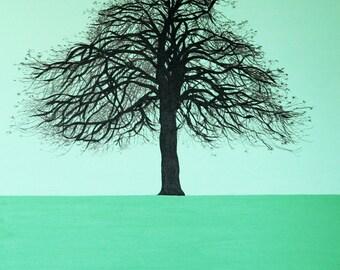 Autumn green tree