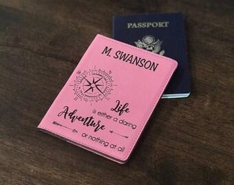 Custom Passport Cover, Personalized passport wallet, Passport wallet, Passport cover, Passport holder, gift for him, women passport wallet