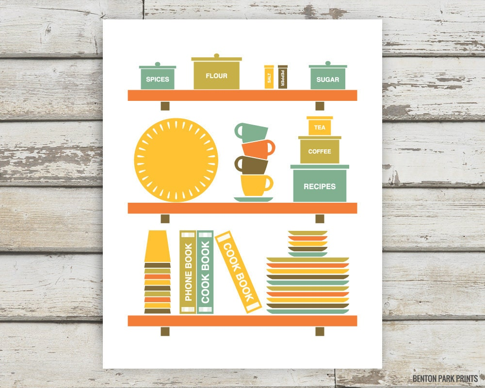 Kitchen, Kitchen Print, Kitchen Art, Cook Book, Cooking, Baking ...