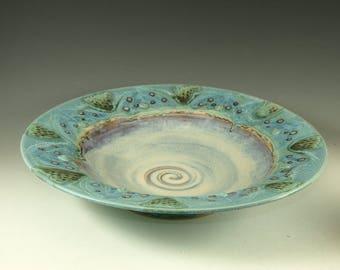 Platter - wall hanging - centerpiece Handmade pottery