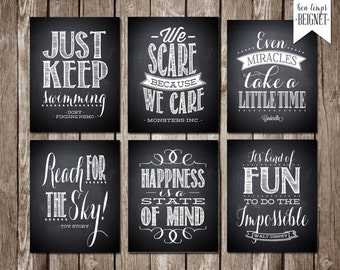 Disney Quote Printables - Set of 6 Printable Downloads