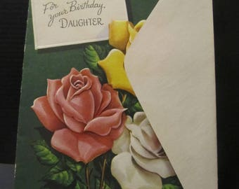 For your Birthday Daughter, Bday Greeting Cards, Recycled Cards, Second Use, with Envelope, FREE Shipping