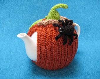 Tea Cosy Pumpkin Halloween Autumn Spider PDF CROCHET PATTERN