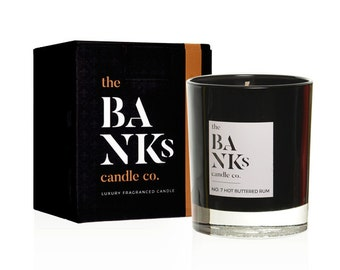 Luxury Scented Hot Buttered Rum Christmas Candles Small (1 Wick) Medium 3 (Wicks) or Large 3 Wicks
