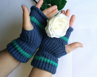 Fingerless Gloves, blue gloves, winter woman, gift for her, Arm Warmers, Mittens, women's accessories, gloves for her, arm sleeves, gifts