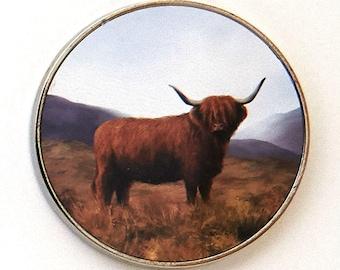 Highland Cow Fridge Magnet