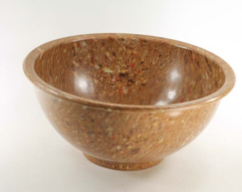 Vintage Confetti or Splatter Melamine Bowl for Mixing Batter Brown Flecked Melmac F 118 Made in USA