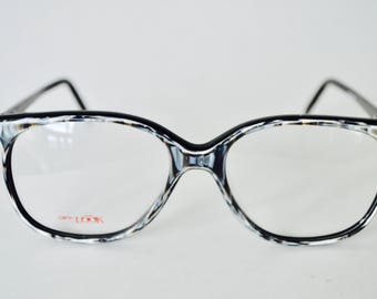 Vintage Black and Grey Mother of Pearl Opti-Look Frames
