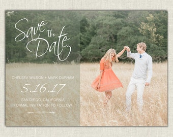 Save the Date  // Save the Date Invitatin // Wedding Save the Date // Printable Template