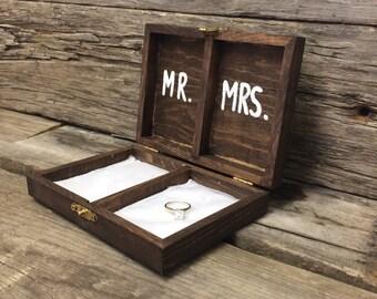 Wood Wedding Ring Box | CUSTOM