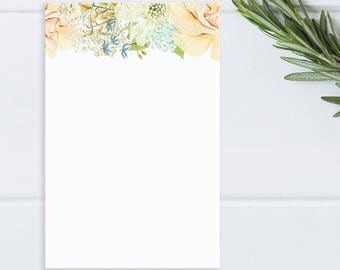 Delicate Floral Notepad