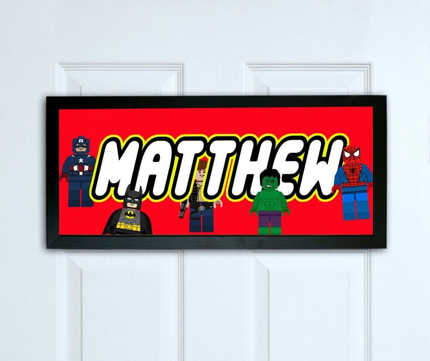 Personalised Name Print, Personalised door sign print, Superhero door sign,  Kids Bedroom door sign, Superhero Print, Superhero Name Sign