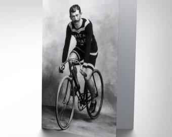 Travel Cycling Cyclist Bicycle Retro Ad Birthday Blank Greetings Card CP1298