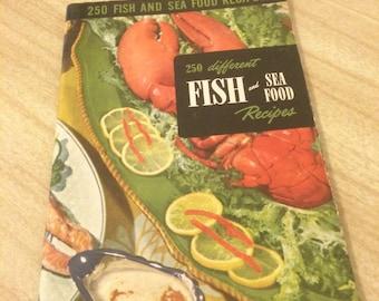 Vintage 1940s Fish and Seafood cookbook