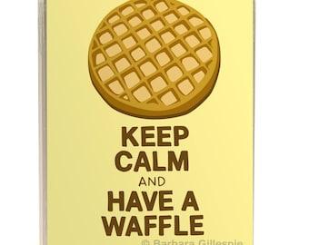 Waffle Art Print / Keep Calm and Have A Waffle / Funny Waffle Art Print / Keep Calm Sign / Waffle Poster / Waffle Print / Kitchen Art