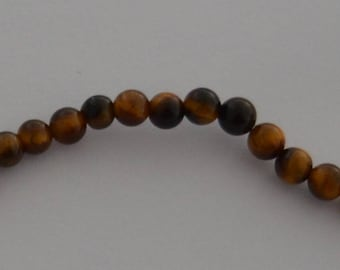 10 4 mm beige Brown Tiger eye beads