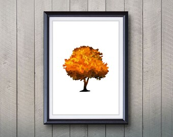 Tree Forest Print - Home Living - Tree Painting -  Tree Art - Wall Decor - Home Decor, House Warming Gifts