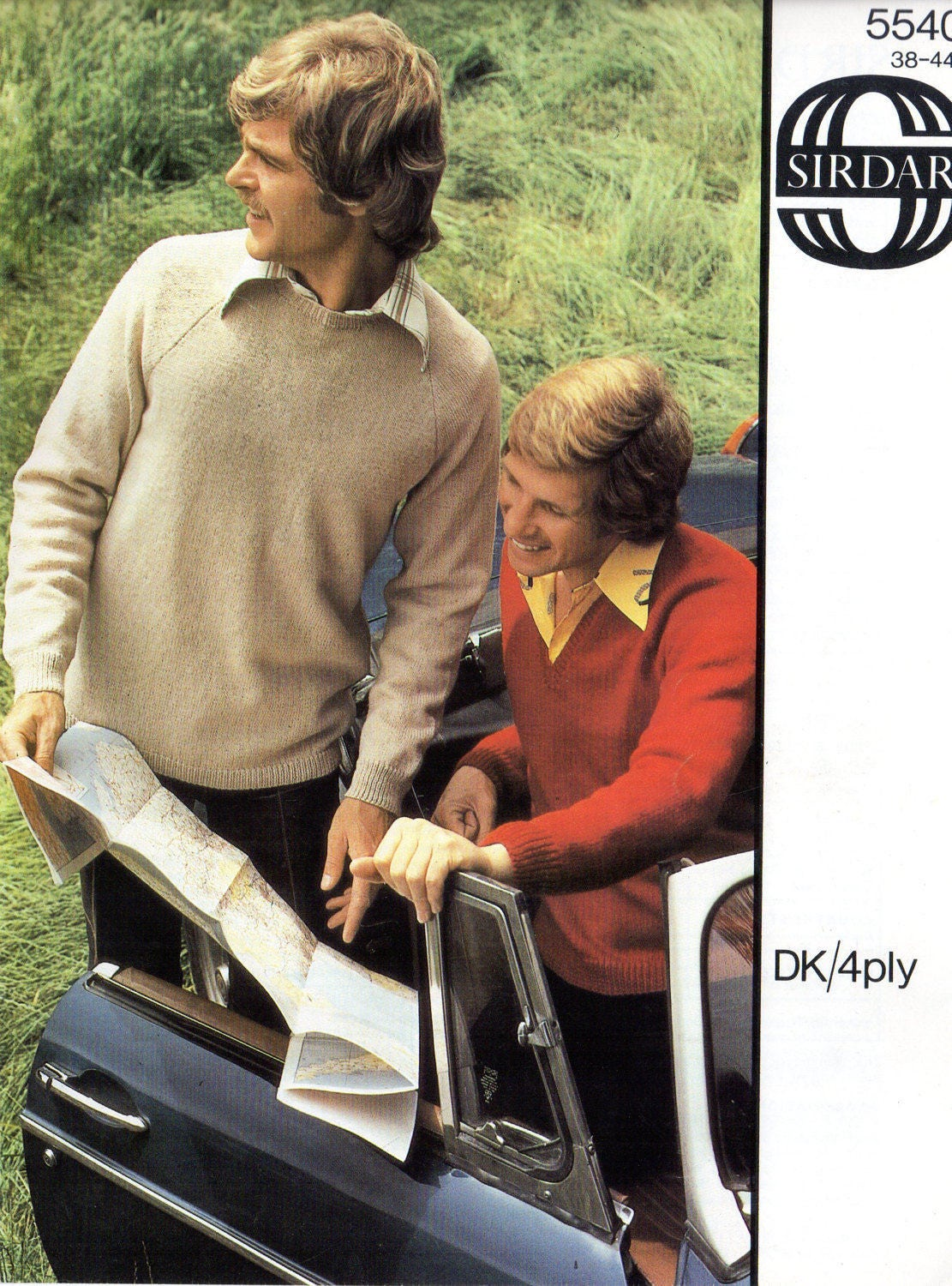 ORIGINAL 70s Mens Jumper Knitting Pattern, sirdar 5540, Mens ...