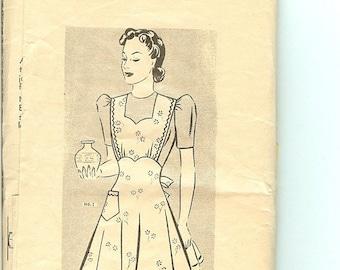 1940s Vintage Mail Order Full or Waist Apron Pattern #1993